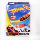 "Пластилин 6 цветов ""Hot Wheels"", 120 гр со  стеком фото"